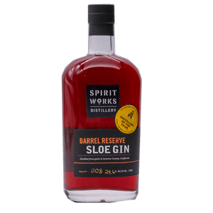 SPIRIT WORKS DISTILLERY BARREL RESERVE SLOE GIN 750mL