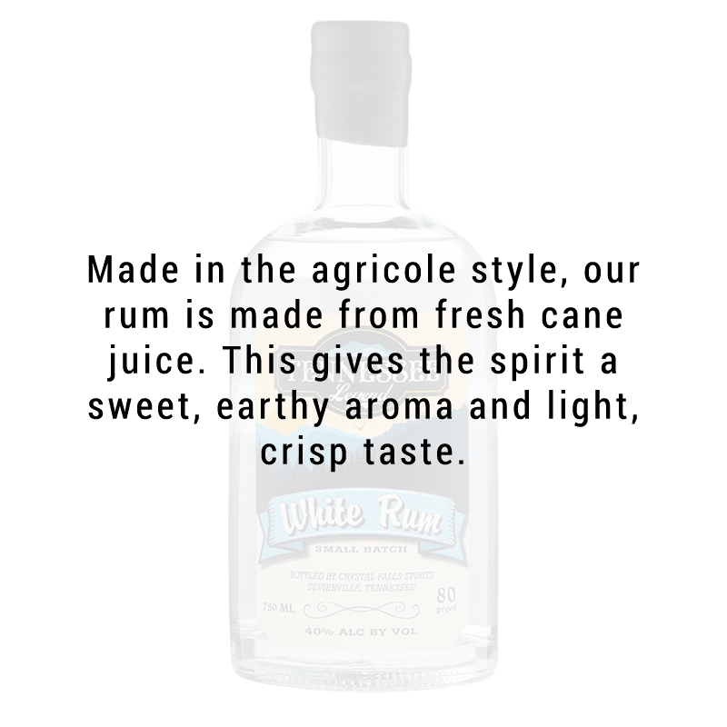 Tennessee Legend White Rum 750mL