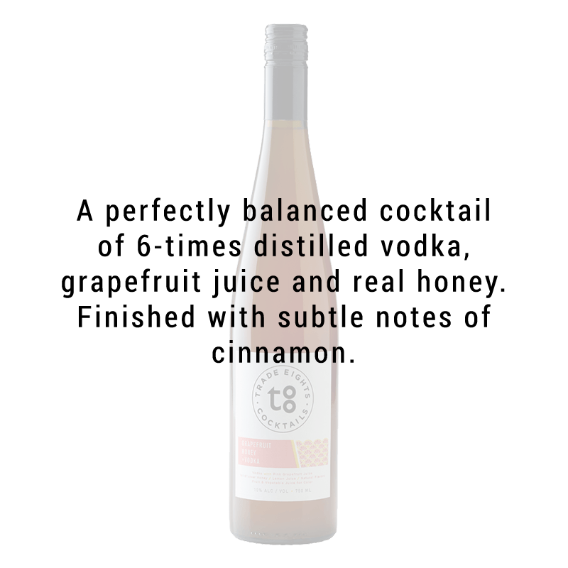 Trade Eights Cocktails Grapefruit Honey Vodka 750ml