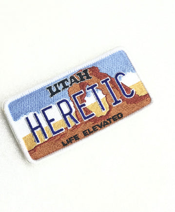 Heretic Utah Plate Patch