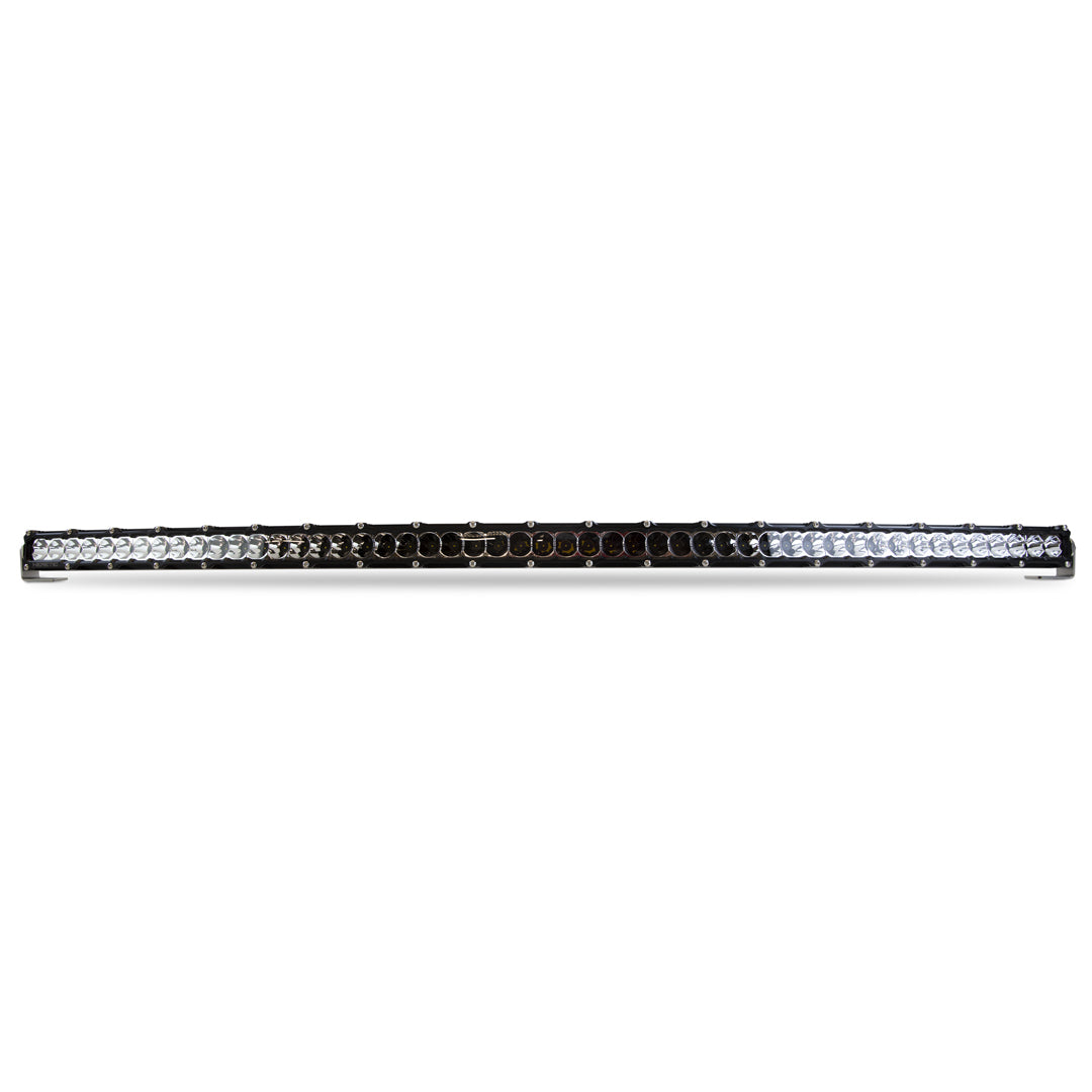 Heretic 6 Series Light Bar - 50 Inch Curved: Black Bezel | Stainless Bolts | Flood Reflector | Clear Lens
