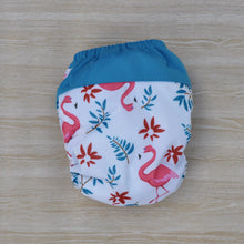 Load image into Gallery viewer, 100% Bamboo Microfibre Newborn Cloth Nappy - Flamingo White