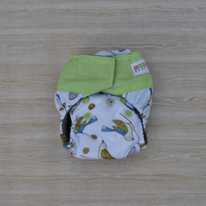 100% Bamboo Microfibre Newborn Cloth Nappy - Birds