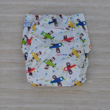 Load image into Gallery viewer, 100% Bamboo Cloth Nappy Aeroplanes