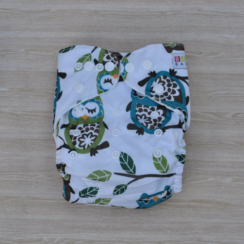 100% Bamboo Cloth Nappy Owl