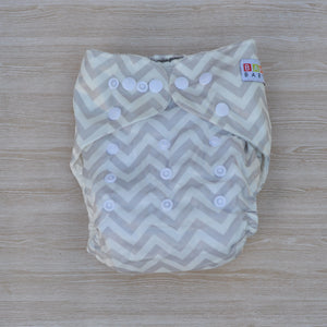 100% Bamboo Cloth Nappy Grey & White