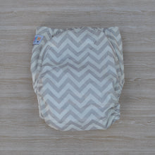 Load image into Gallery viewer, 100% Bamboo Cloth Nappy Grey & White