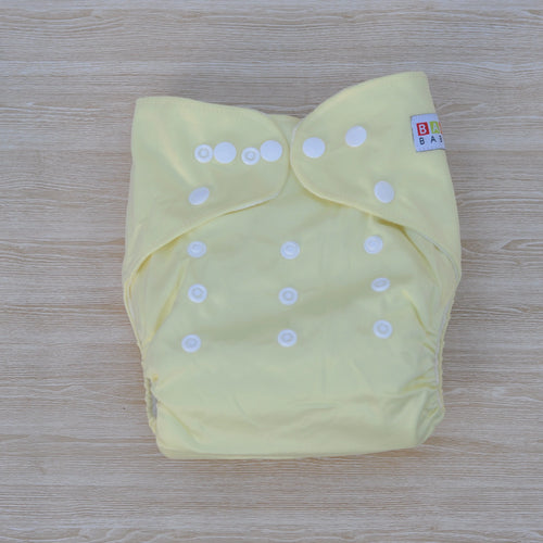100% Bamboo Cloth Nappy Lemon