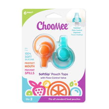 Load image into Gallery viewer, SOFTSIP POUCH TOPS - 2 CT | ORANGE AQUA