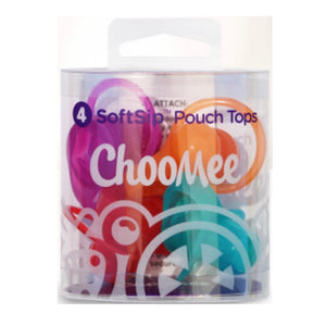 SOFTSIP POUCH TOPS - 4 CT | ORANGE AQUA + RED PURPLE