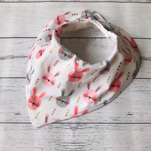 Load image into Gallery viewer, Bamboo Bandana Bib - Pink Bunny