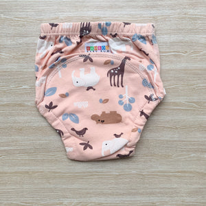 Bamboo Training Pants - Pink animals
