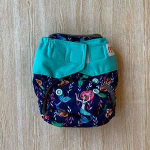 Bamboo Microfibre Newborn Cloth Nappy - Mermaid