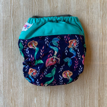 Load image into Gallery viewer, Bamboo Microfibre Newborn Cloth Nappy - Mermaid