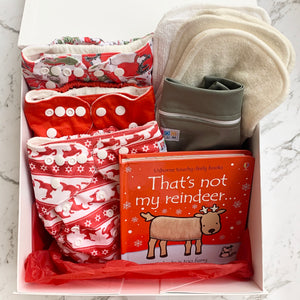 Personalised Christmas Nappy Gift Pack - Reindeer