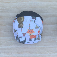 Load image into Gallery viewer, Bamboo Microfibre Newborn Cloth Nappy - Fox & Bear