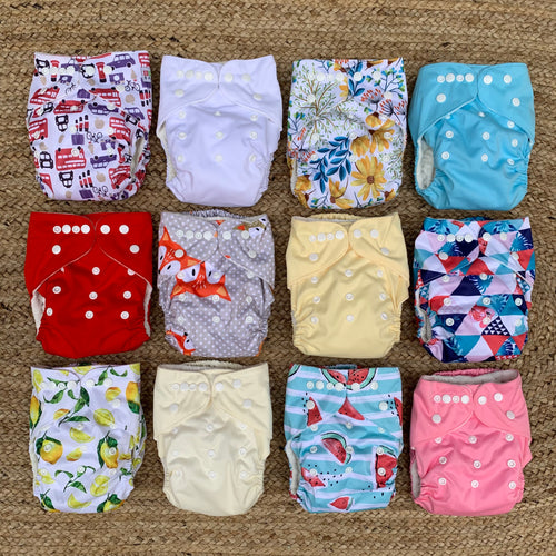 10 PACK NAPPIES OSFA - BUY 10 GET 2 FREE