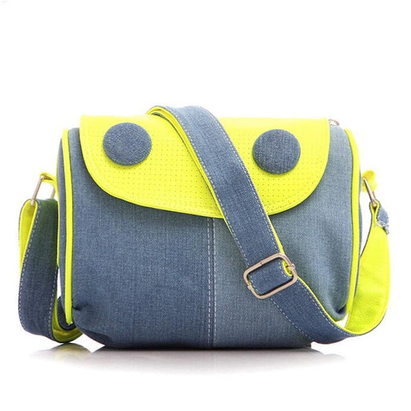 Retro Denim Shoulder Bag