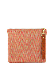 Load image into Gallery viewer, The Adrienne Wristlet in Pumpkin Herringbone