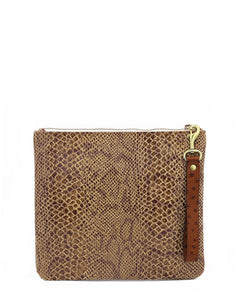 The Adrienne Wristlet: Embossed Leather Collection