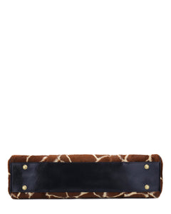 The CHERIE - giraffe or multi-leopard luxe faux fur