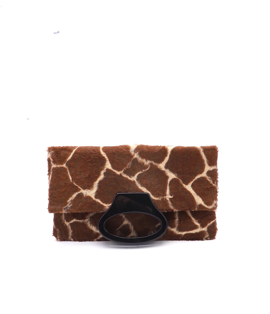 The OLIVIA - giraffe print faux fur - SAMPLE