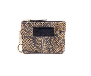 The Eevee Black and Tan Python Leather with Keychain