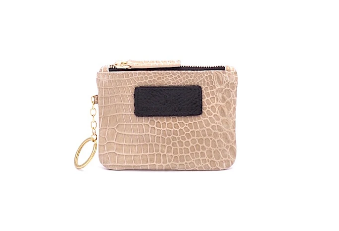 The Eevee Embossed Sable Croc Leather with Keychain