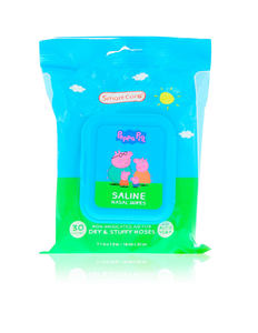 Smart Care Peppa Pig Saline Nasal Wipes 30 Count - Smart Care