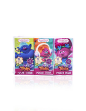 Load image into Gallery viewer, Smart Care Trolls Pocket Facial Tissues 6 Pack - Smart Care