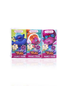 Smart Care Trolls Pocket Facial Tissues 6 Pack - Smart Care