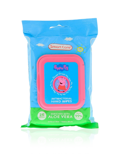 Smart Care Peppa Pig Antibacterial Wipes 25 Count - Smart Care