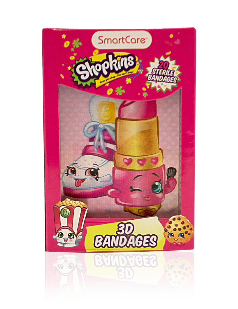 Smart Care Shopkins Character Bandages 20 Count - Smart Care