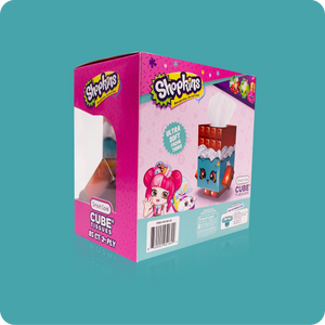 Shopkins Cube Tissue Box - Case Pack 24 - Smart Care