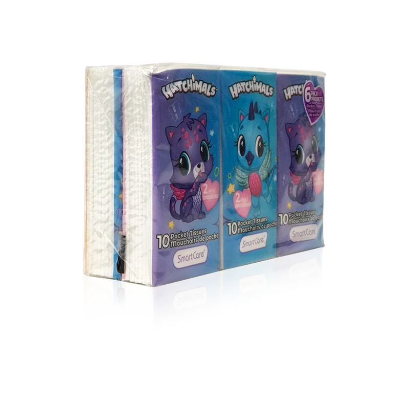 Smart Care Hatchimals Pocket Tissue 6 pack