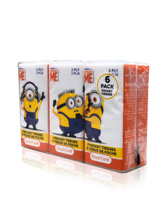 Smart Care Minions Pocket Facial Tissues 6 Pack (new) - Smart Care