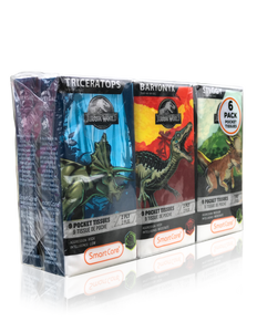 Smart Care Jurassic World Pocket Facial Tissues 6 Pack (new) - Smart Care