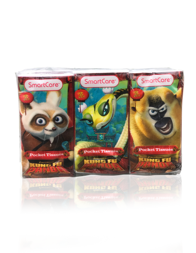 Smart Care Kung Fu Panda Pocket Facial Tissues 6 Pack - Smart Care
