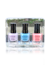 Load image into Gallery viewer, IGlow Nail Polish 3Pk (Shades - Periwinkle, Sky Blue, Coral) - Smart Care