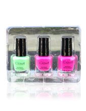 Load image into Gallery viewer, IGlow Nail Polish 3Pk (Shades - Green, Pink, Pink) - Smart Care
