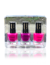 Load image into Gallery viewer, IGlow Nail Polish 3Pk (Shades - Pink, Purple, Pink) - Smart Care