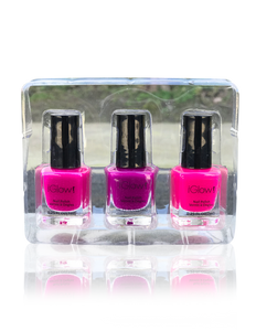 IGlow Nail Polish 3Pk (Shades - Pink, Purple, Pink) - Smart Care