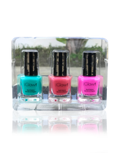Load image into Gallery viewer, IGlow Nail Polish 3Pk (Shades - Sea Foam, Punch, Hot Pink) - Smart Care