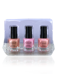 IGlow Nail Polish 3Pk (Shades - Peach, Taffy, Peach) - Smart Care