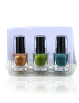IGlow Nail Polish 3Pk (Shades - Cider, Emerald, Aegean) - Smart Care