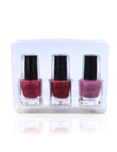 Load image into Gallery viewer, IGlow Nail Polish 3Pk (Shades - Jam, Magenta, Taffy) - Smart Care