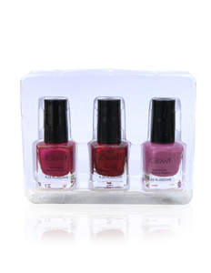 IGlow Nail Polish 3Pk (Shades - Jam, Magenta, Taffy) - Smart Care