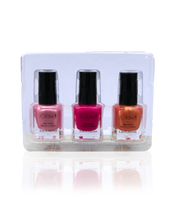Load image into Gallery viewer, IGlow Nail Polish 3Pk (Shades - Watermelon, Hot Pink, Carrot) - Smart Care