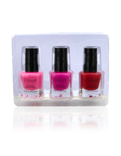 Load image into Gallery viewer, IGlow Nail Polish 3Pk (Shades - Hot Pink, Punch, Red) - Smart Care
