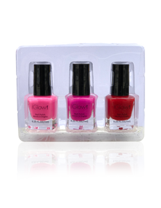 IGlow Nail Polish 3Pk (Shades - Hot Pink, Punch, Red) - Smart Care